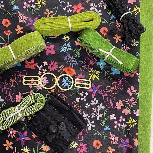 Melody in Green or Black  -  Bra Making Kit