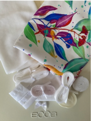 Bottle Brush White Bra & Undies Kit