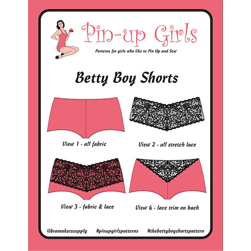 """Betty"" Boy Shorts Undies Pattern"