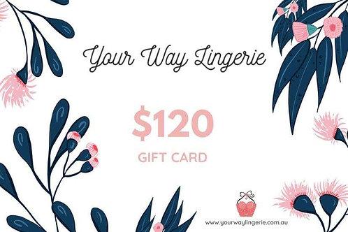 Gift Voucher -  $120