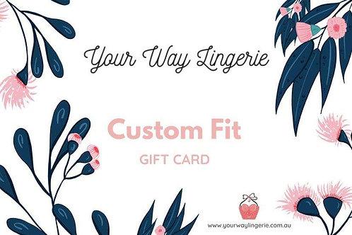 Custom Fit - Gift Voucher