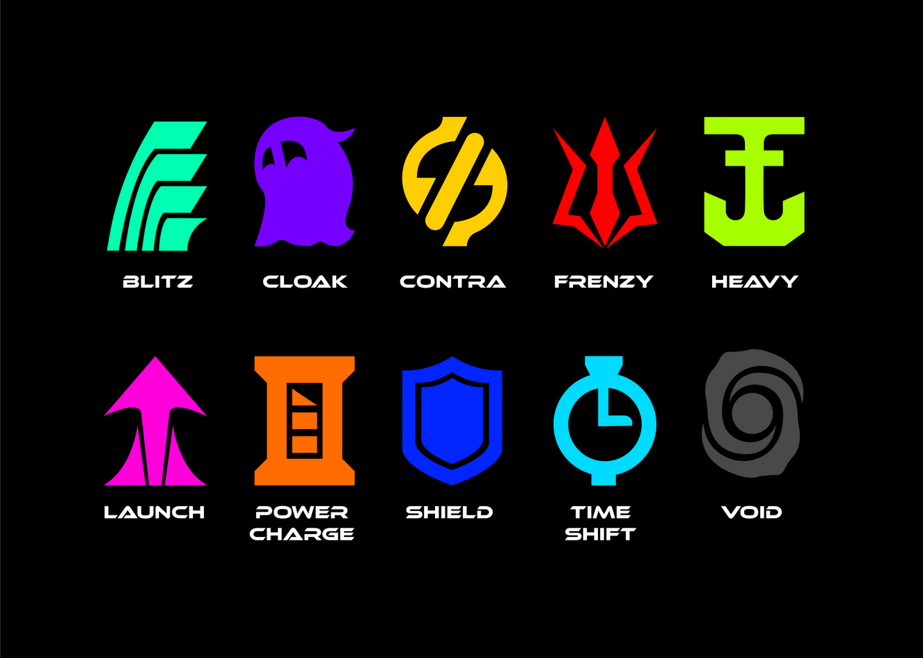 Power-up Icons Concepts