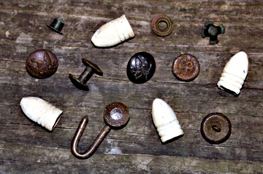 Civil War artifacts from Fort Johnson
