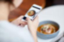 Tomando Imagen de los alimentos