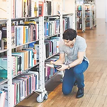 Man in Library