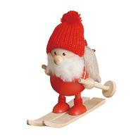 スキーをしてるふとっちょサンタ