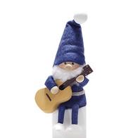 ギターを持った青い服のサンタ