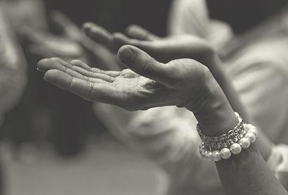 Image of open hands