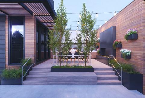 Backyard & Flowers - Render