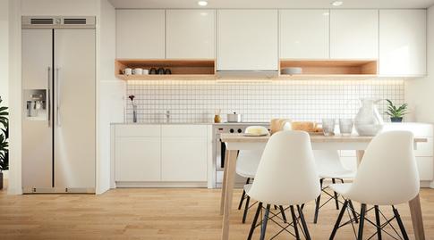Cozinha em estilo escandinavo