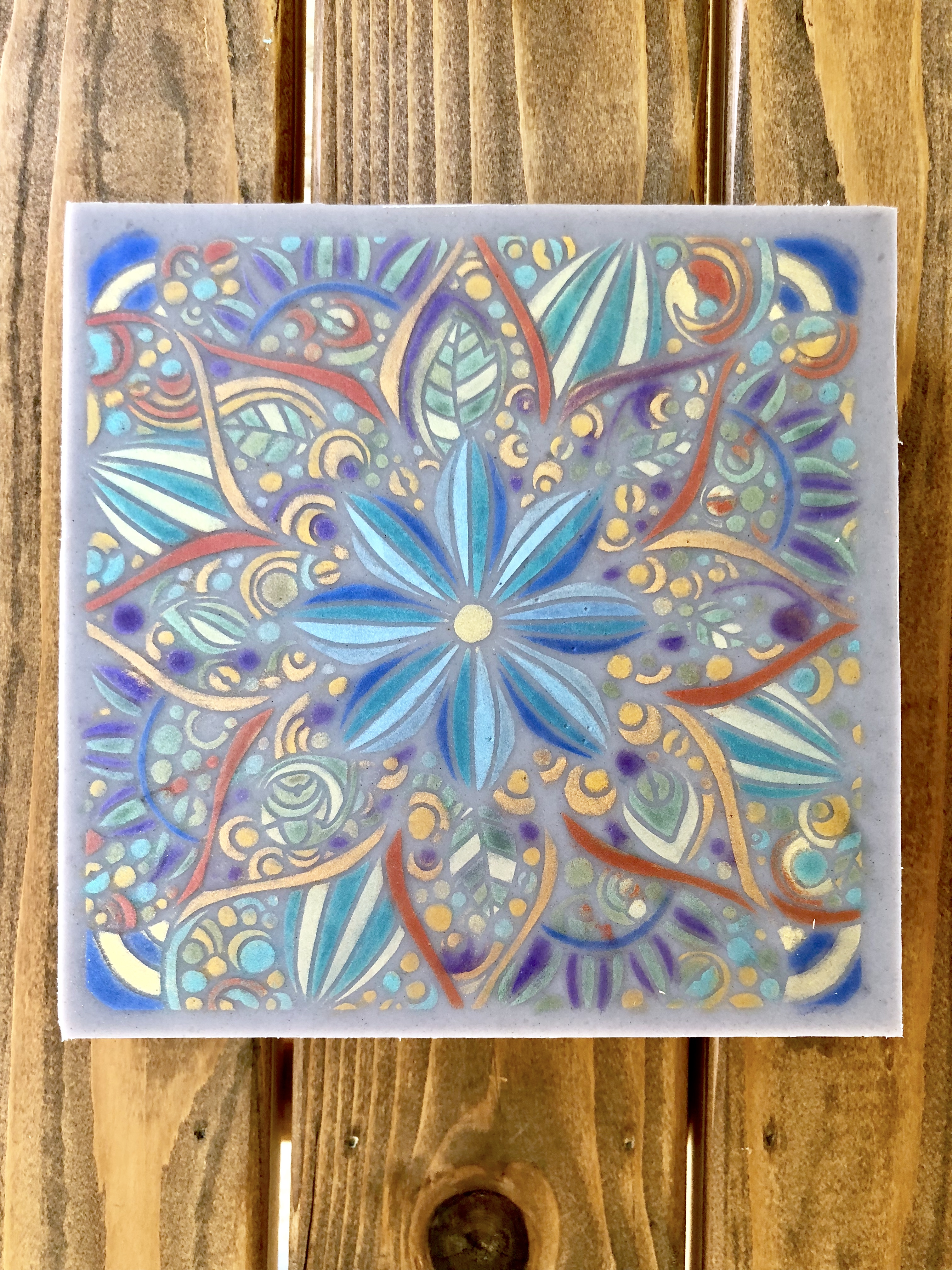 Handpainted Soap Slab