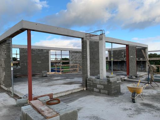 Site progress in Donabate