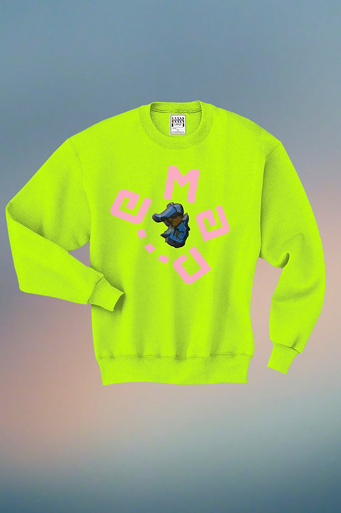 safety green circle emad sweater