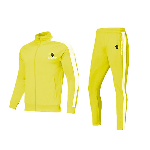 yellow tack suit