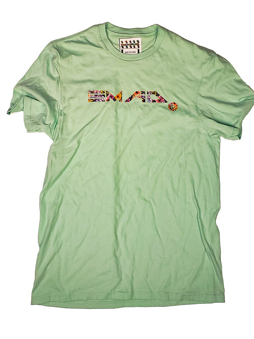 Floral Mint green tee