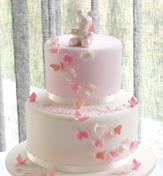girl christening cake butterflies_Fotor.