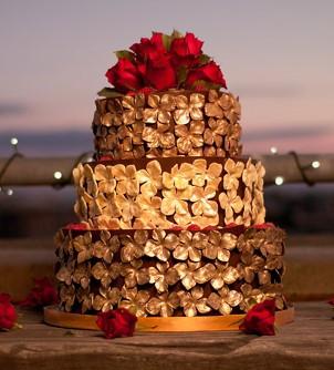 Gold dusted flower cake.jpg
