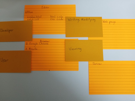 Rebuild and Talk with index cards