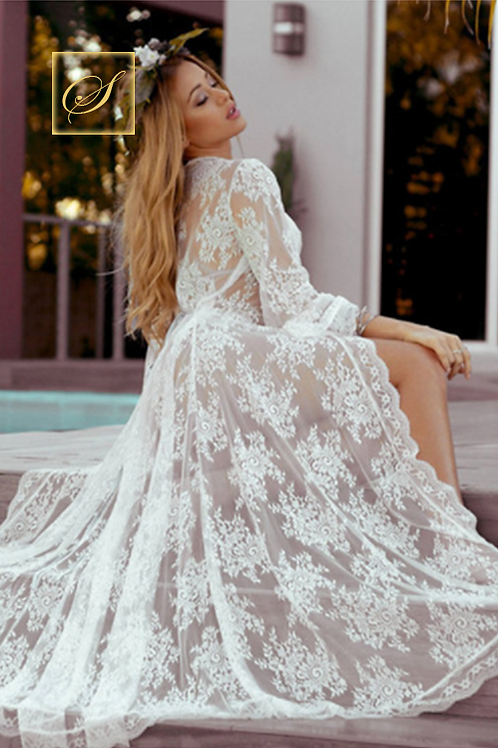 """Vivian"" Lace Nightgown"