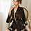"Thumbnail: ""Akiko"" Elegant Japanese Robe (Black)"