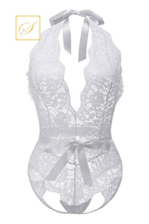 """Lindsay"" Lace Bodies (White)"