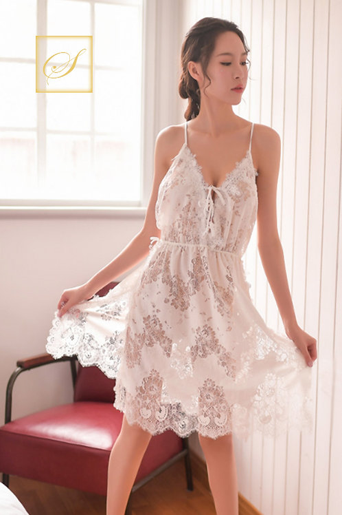 """Rose"" Luxury Nightwear (White)"