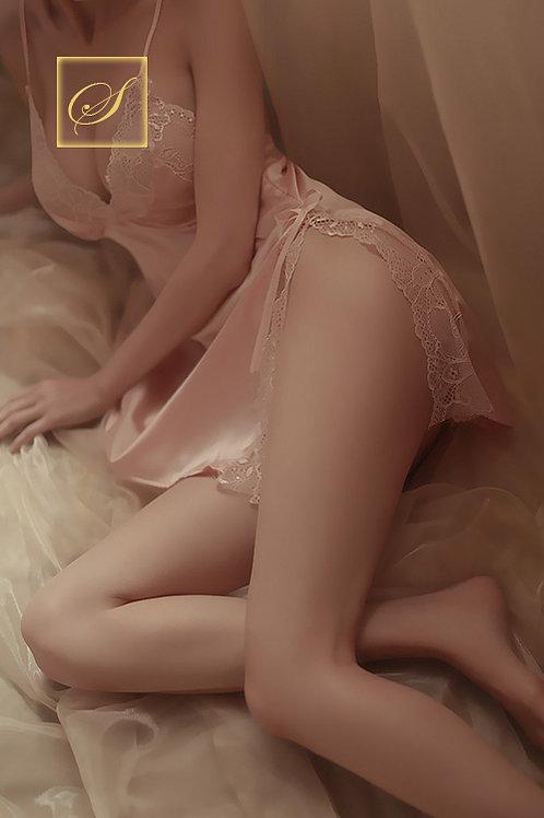 """Jasmine"" Negligee Set (Pink)"