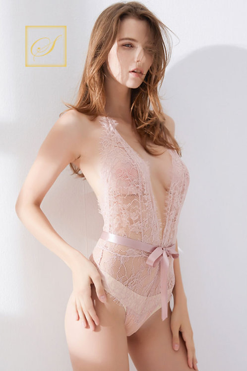 """""""Lindsay"""" Lace Bodies (Pink)"""