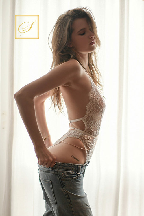 """Amanda"" Lace Bodies (White)"