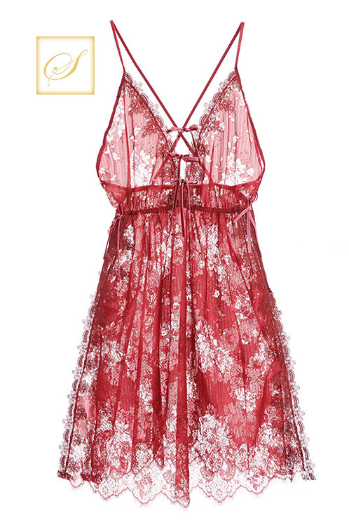 """Rose"" Luxury Nightwear (Red)"
