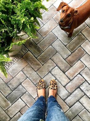 Easy DIY Hand Painted Brick Steps