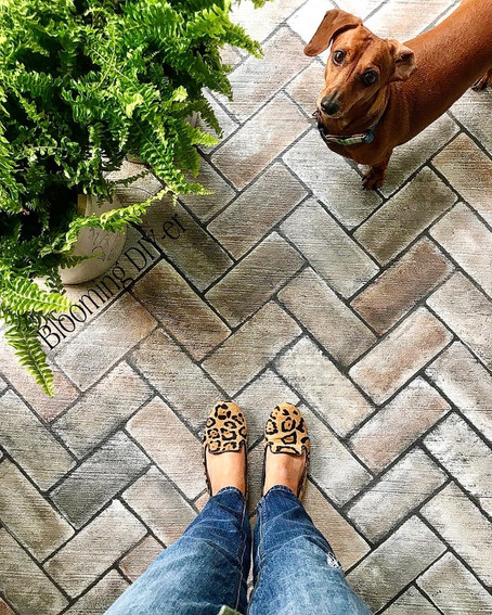 Easy DIY Hand Painted Brick Steps