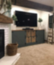 Custom Ikea TV entertainment unit.