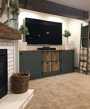 Custom Ikea TV entertainment unit.