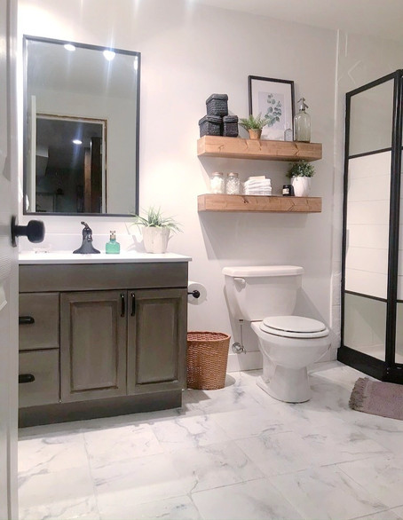 $200 Basement Bathroom Makeover