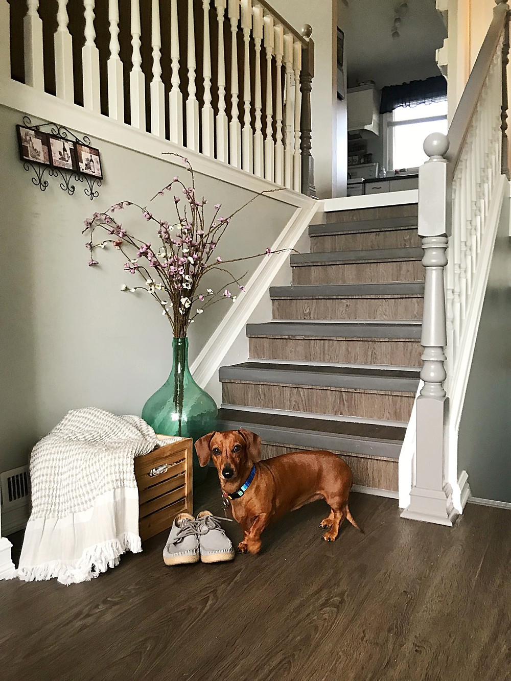 How To Paint Stair Spindles the Easy Way   After DIY Foyer Project