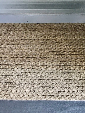 DIY Braided Jute Door Mat