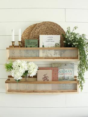 DIY Pocket Shelves with Faux Cane Webbing