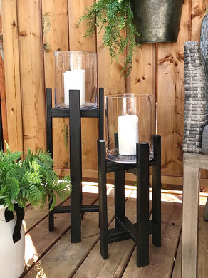 Easy Outdoor Wooden Candle Holders