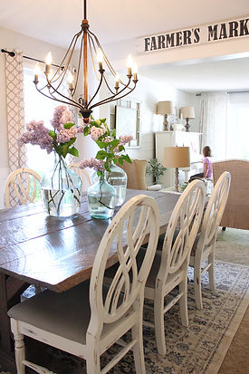 Farmhouse style kitchen table.