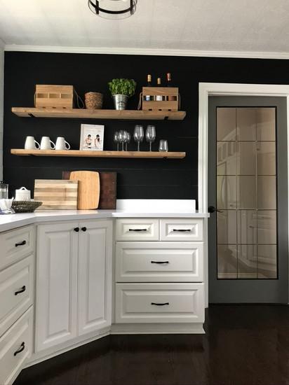 Minimalist farmhouse style kitchen.