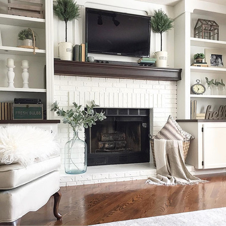 Fireplace/Built-ins Before and After