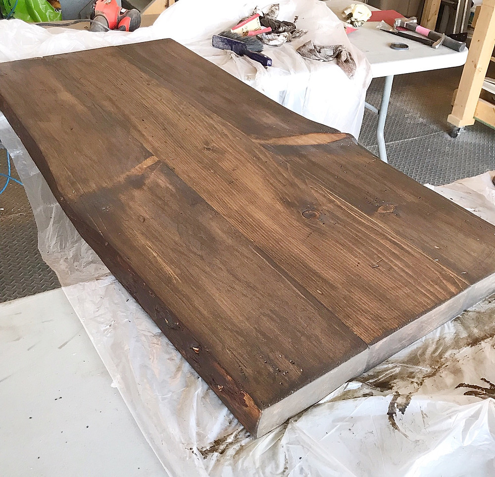 live edge coffee table top