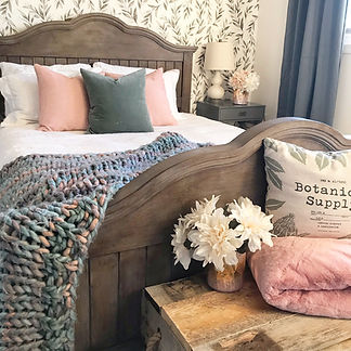 Farmhouse style bedroom.