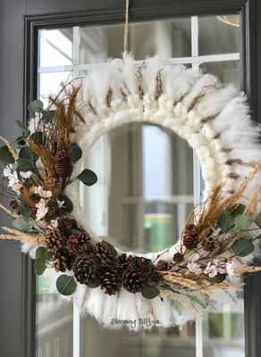 Cozy Fall and Winter Wreath