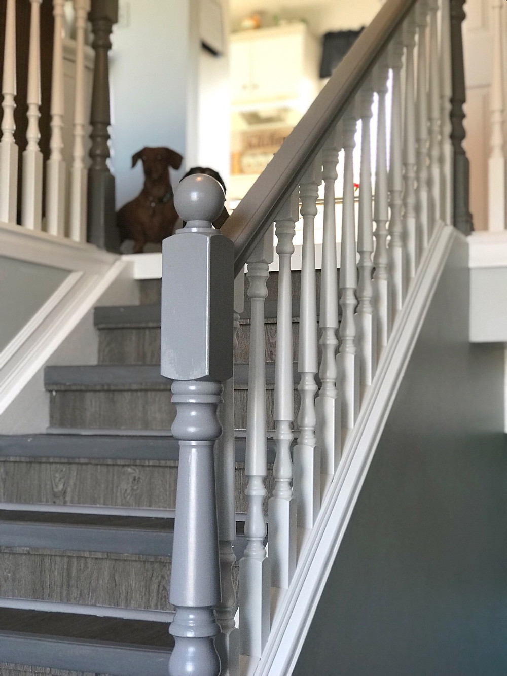 How To Paint Stair Spindles the Easy Way   After Painting Oak Spindles