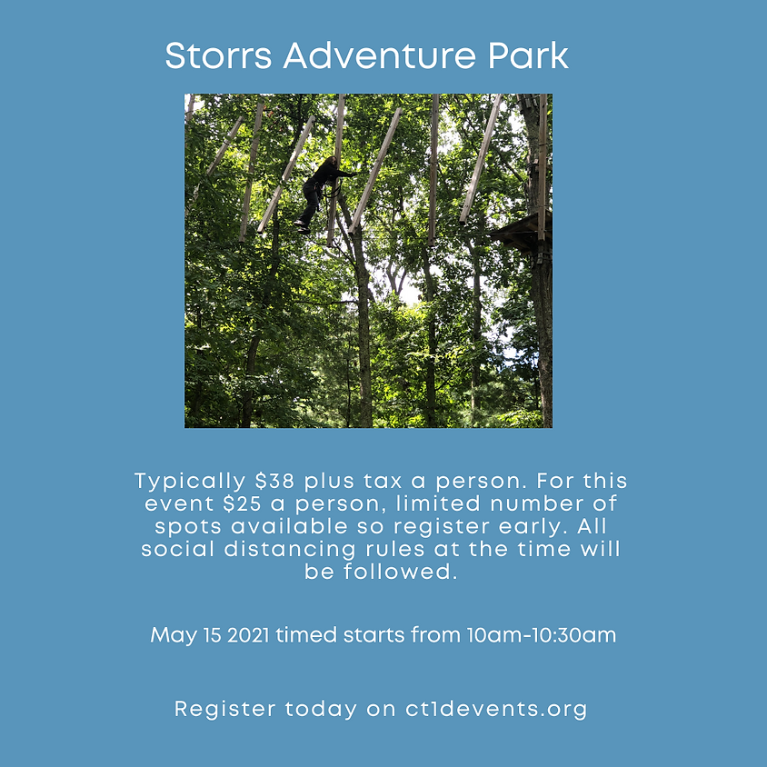 Storrs Adventure Park outing for kids with T1D & Siblings