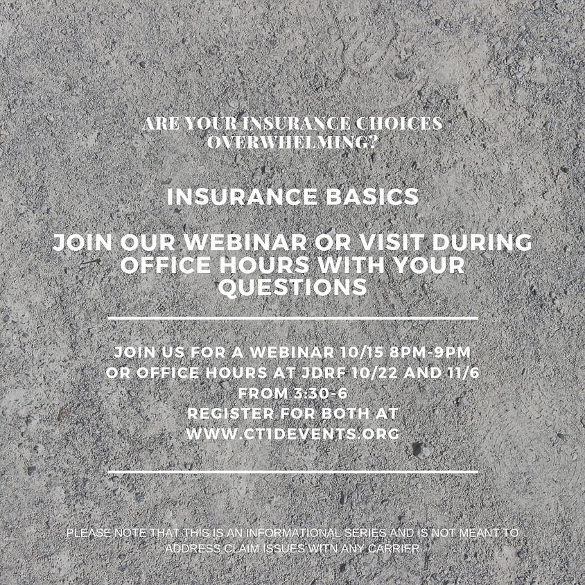 Insurance Office Hours at JDRF
