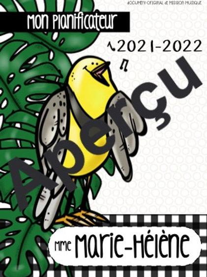 Planificateur 2021-2022 - Oiseau