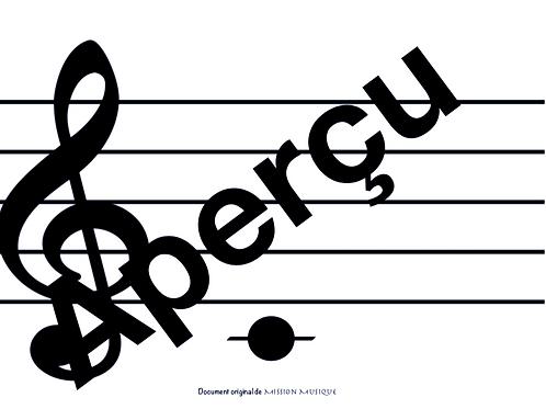 Affiches - Les notes - Sans les noms - Noir & Blanc